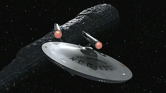 Enterprise flyby of Doomsday machine