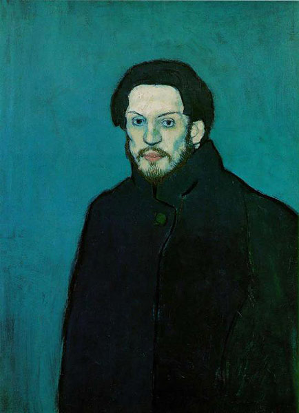 Picasso: Self Portrait with Cloak 1901