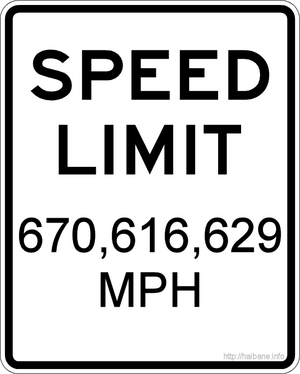 universe speed limit sign 670616629 mph