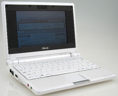 ASUS Eee PC 4G - Pearl White Intel processor 7