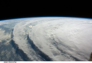 Hurricane Ike as seen from the International Space Station