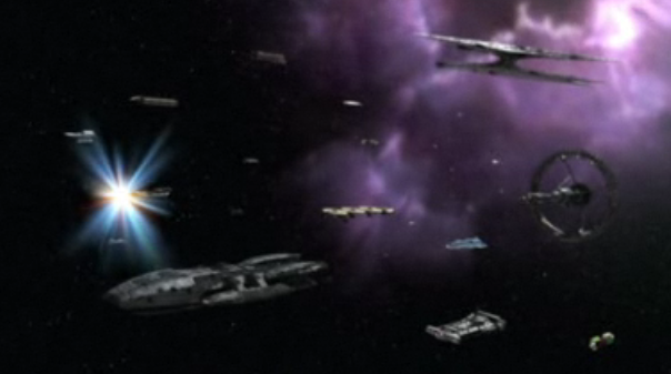 The Fleet six days after leaving dead Earth
