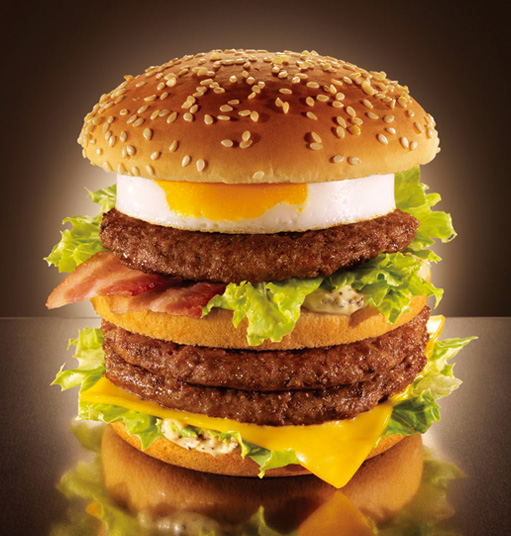 The Mega Tamago Burger at Japanese McDonald's