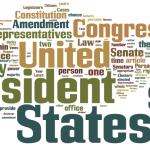 word cloud of the Constitution of the United States
