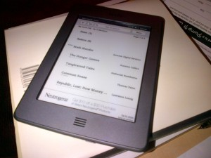 my Kindle Touch WiFi