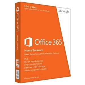 11.	Office 365 Home Premium 1yr Subscription (5 PC license)