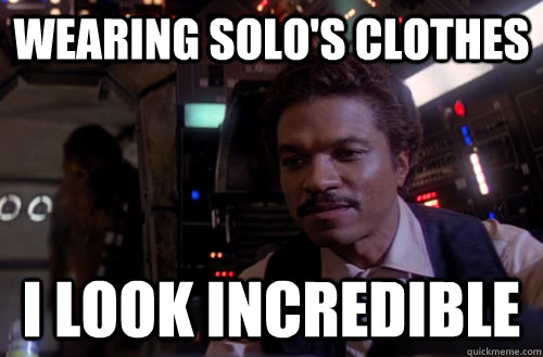 Lando wearing solo's clothes, looks incredible