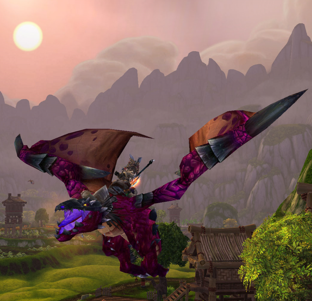 Aabde's new Violet Proto-Drake. What a long, strange trip it's been indeed!