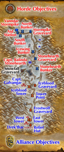 Alterac Valley map from WoW Insider