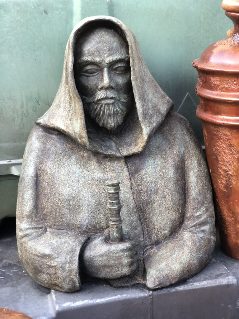 Jedi statue outside Dok Ondar's Den of Antiquities. Photo: Huzaifa Mogri